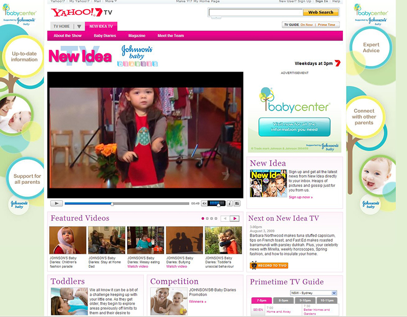 Tv exposure for Ivy Designs