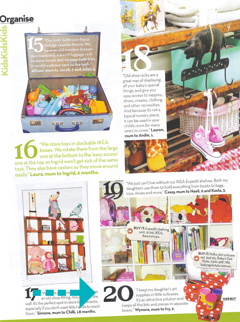 Magazine exposure for Ivy Designs' products