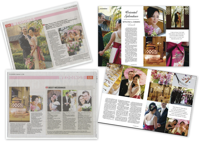Bridal magazine and newspaper interview