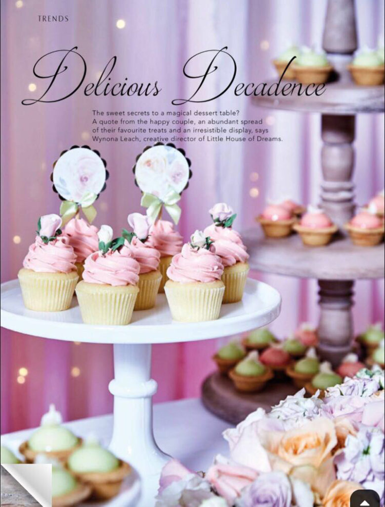 Magazine editorial for styling and desserts, under employment with Little House of Dreams