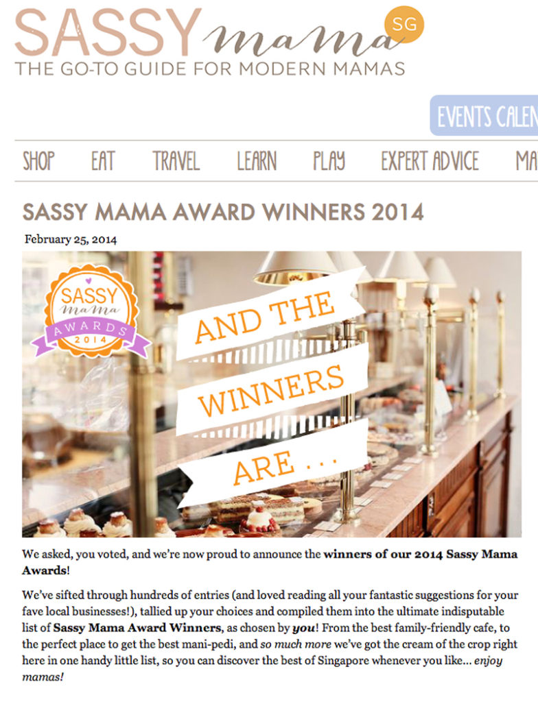 Red Carousel won 'Best shop for party planning and supplies' in the 2014 Sassy Mama awards
