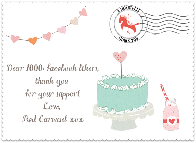 Red Carousel opened its virtual doors and within 16 days, its Facebook page had gained 1000 follower