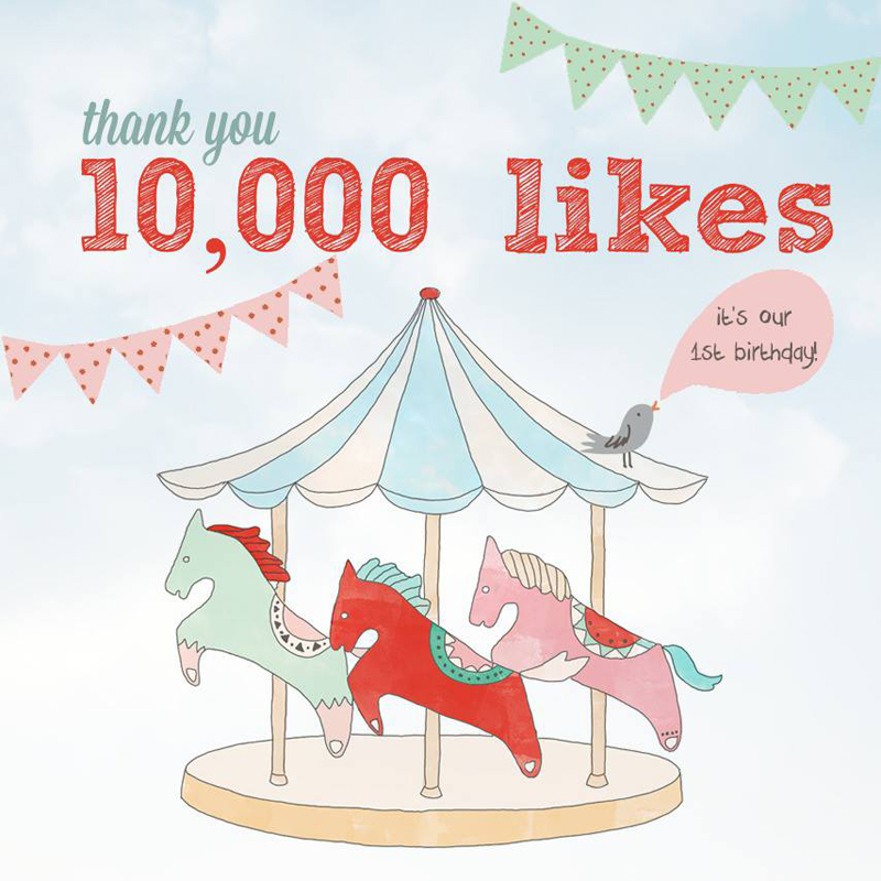 10,000 likes on facebook within 12 months