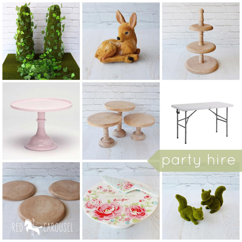 Party items for hire